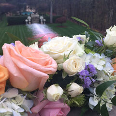 Cristal & Blake's Wedding Flowers BTS