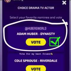 Voting for Adam for Choice Drama TV Actor