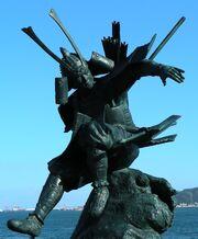 Yoshitsune-statue