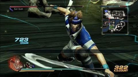 Dynasty Warriors 8 Yue Jin Gameplay with DLC Costume Battle of Ruxukou