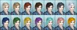 DW6E Female Hair Color Parts