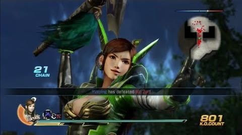 Dynasty Warriors 8 Yue Ying Gameplay with DLC Costume Battle of Tianshui