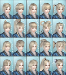 DW6E Female Hair Parts