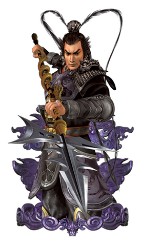 File:Lu Bu Render (CR - ROTK).png