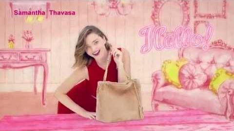 Samantha Thavasa - Dakishimete♡ TV CM with Miranda Kerr