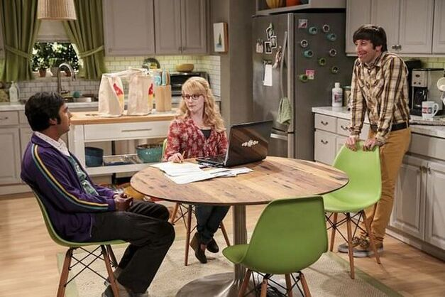fetal kick catalyst big bang theory raj bernadette and howard in kitchen