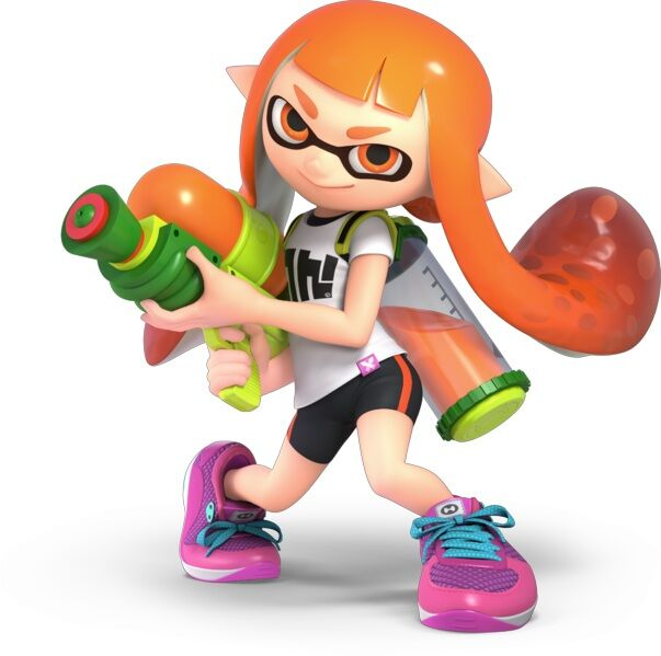 Inklink new character with squirt gun from Splatoon
