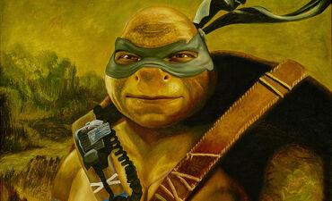 Leonardo Gets Mona Lisa'ed in 'Ninja Turtles' Art (Exclusive)