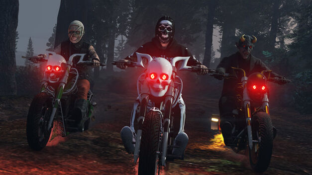 GTA Online Halloween event LCC Sanctus Motorcycle