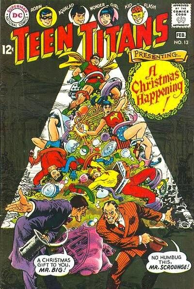 Teen Titans #13 comic christmas issue