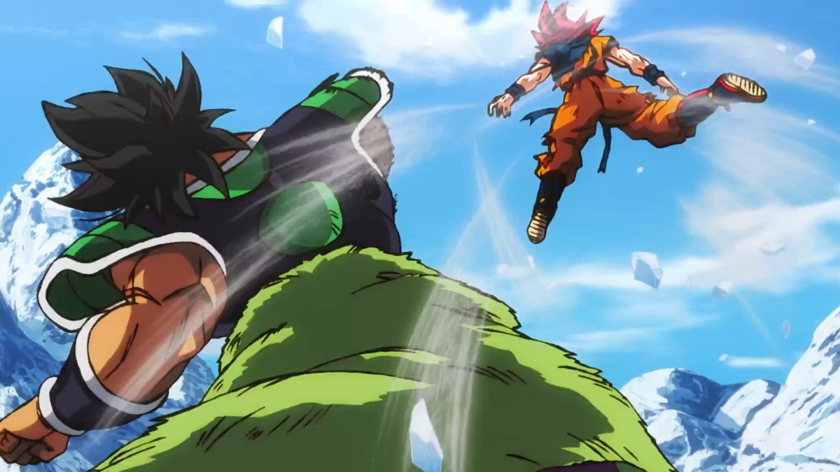Broly wrecks SS God Goku, Dragon Ball Super: Broly
