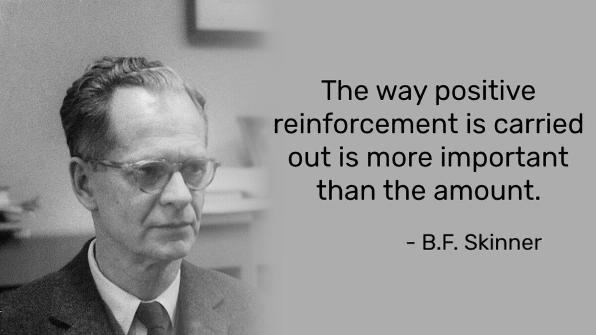 B.F. Skinner quote on positive reinforcement in loot boxes
