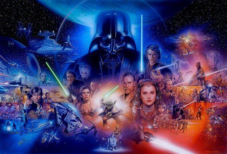 Star Wars saga collage