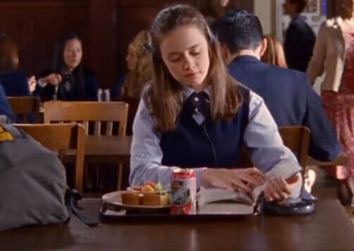 rory gilmore alone with book