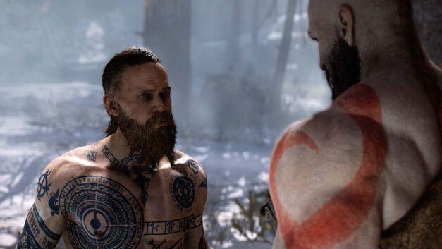 Baldur confronts Kratos at his home