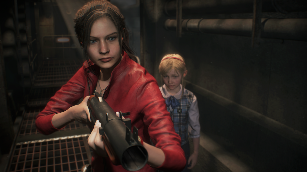 Resident Evil 2 Claire and Sherry