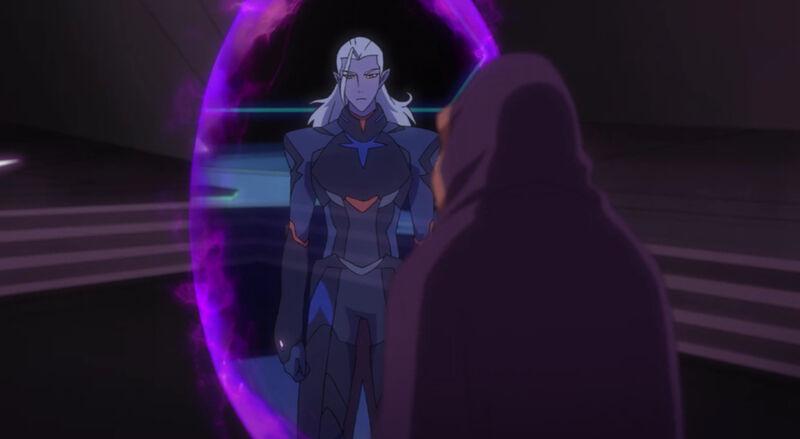 Haggar spying through Shiro's eyes