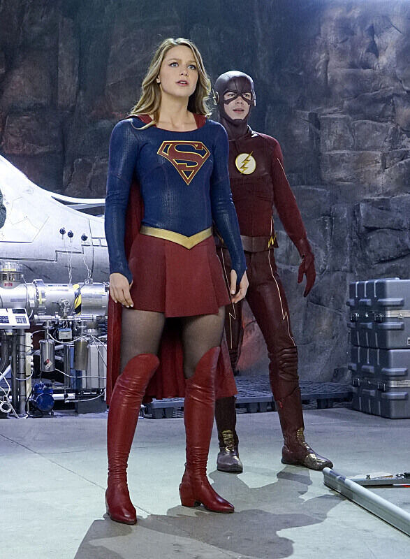 Kara and Barry posing