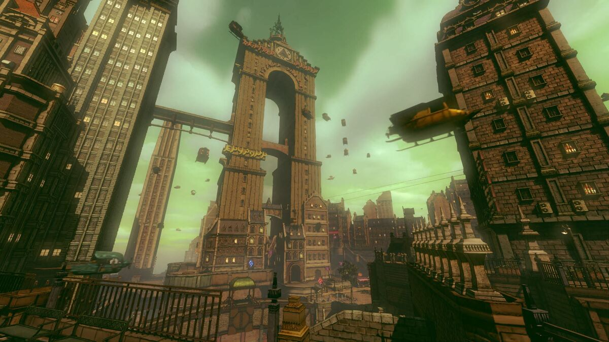 The city looms large in Gravity Rush 2.