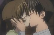 Kouta und Yuka küssen sich