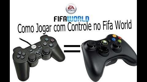 Como jogar com controle No FIFA WORLD