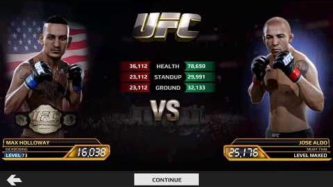 Max Holloway vs Jose Aldo