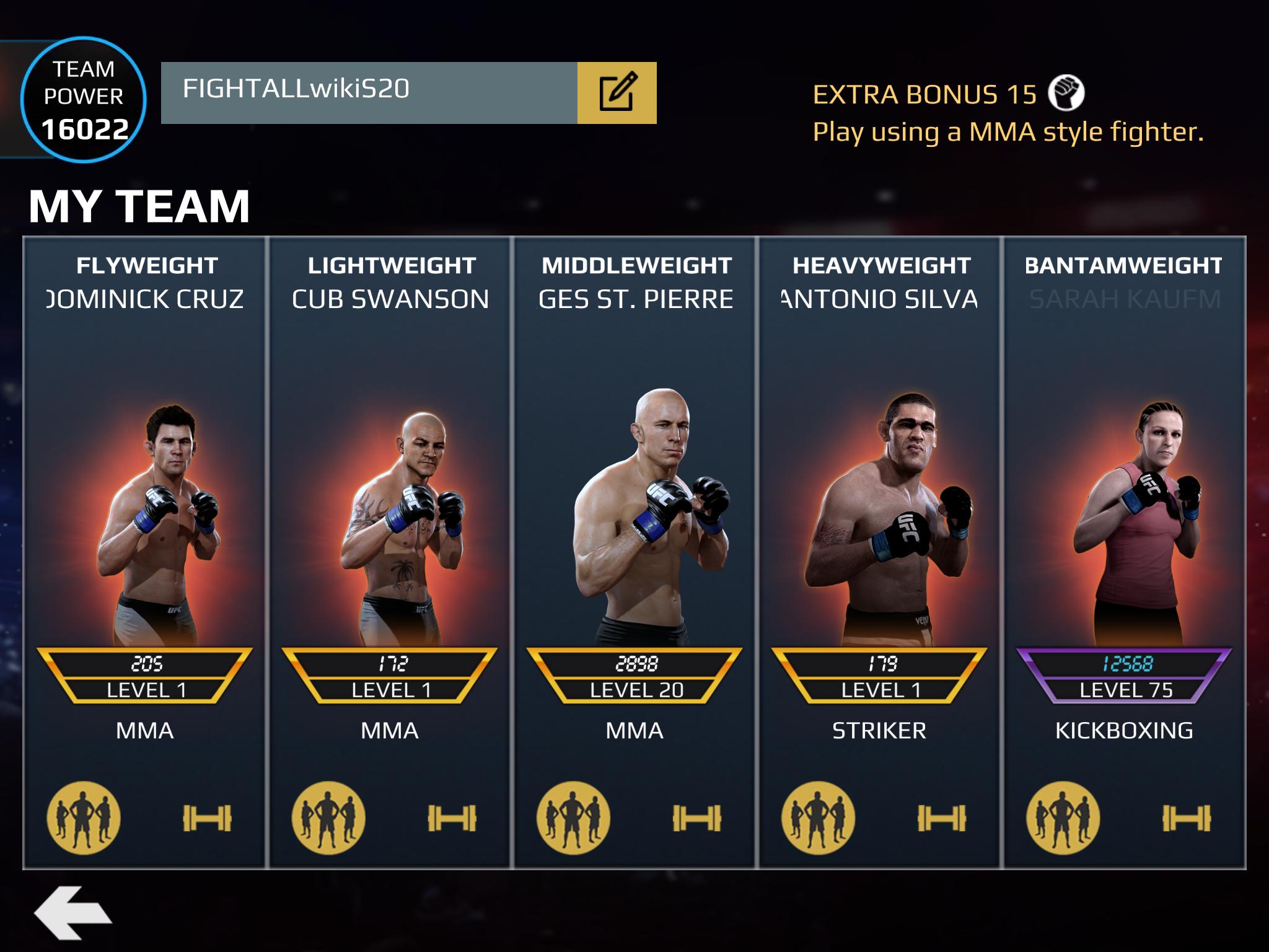 EA UFC matchmaking