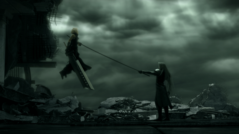 Advent Children Complete Cloud v Sephiroth