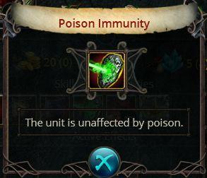 Poison immunity