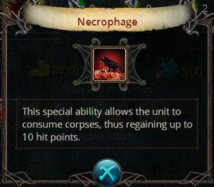 Necrophagy