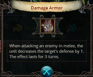 Damage armor