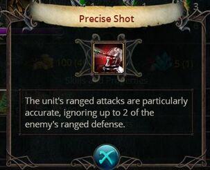 Precise shot