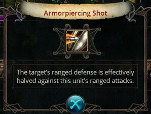 Armorpiercing shot
