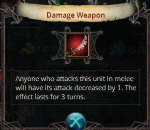 Damage weapon
