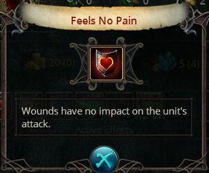Feels no pain