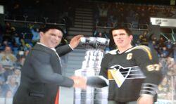 Sidney Crosby Penguins retro stanley cup NHL 09