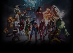 Marvel Heroes Background Marko Group Shot