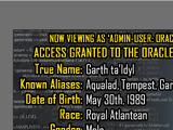 Oracle Files: Garth ta'Idyl 1