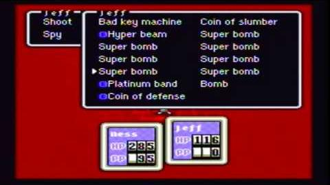 """Earthbound The Clumsy Robot's """"Unused"""" Action-0"""