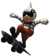Modelo de arcilla de Skate Punk