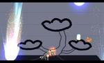 Ness usando PK Tormenta Estelar en Super Smash Bros. Brawl