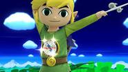 Toon Link con el Broche Franklin