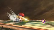 Ness usando PK Fuego en Super Smash Bros. Brawl