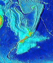 -Zealandia topography