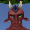 Normal female daemon face
