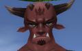 Intense male daemon