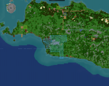 Bandung as seen from the map (center)
