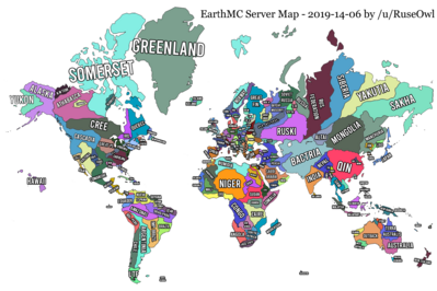 Map of earthmc with names