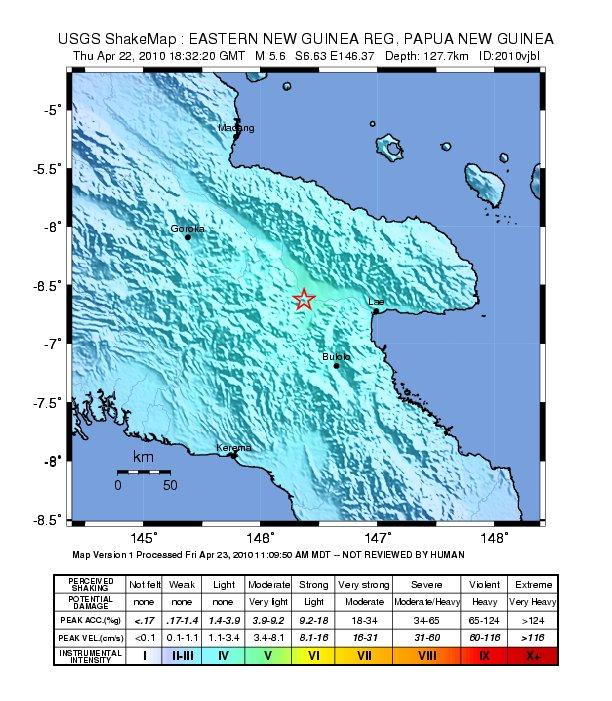 2010 April 23, Papua New Guinea | Earthquakes Wiki | FANDOM