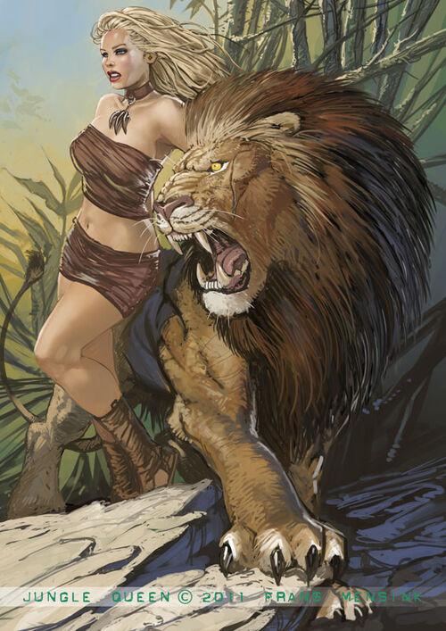 Jungle queen by fransmensinkartist-d4czr1w